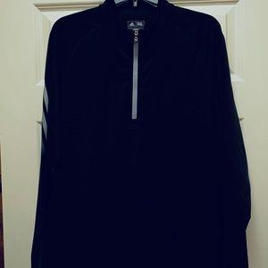 Adidas black half-zip pullover -size M